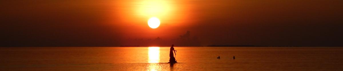 Sonnenuntergang auf Angaga